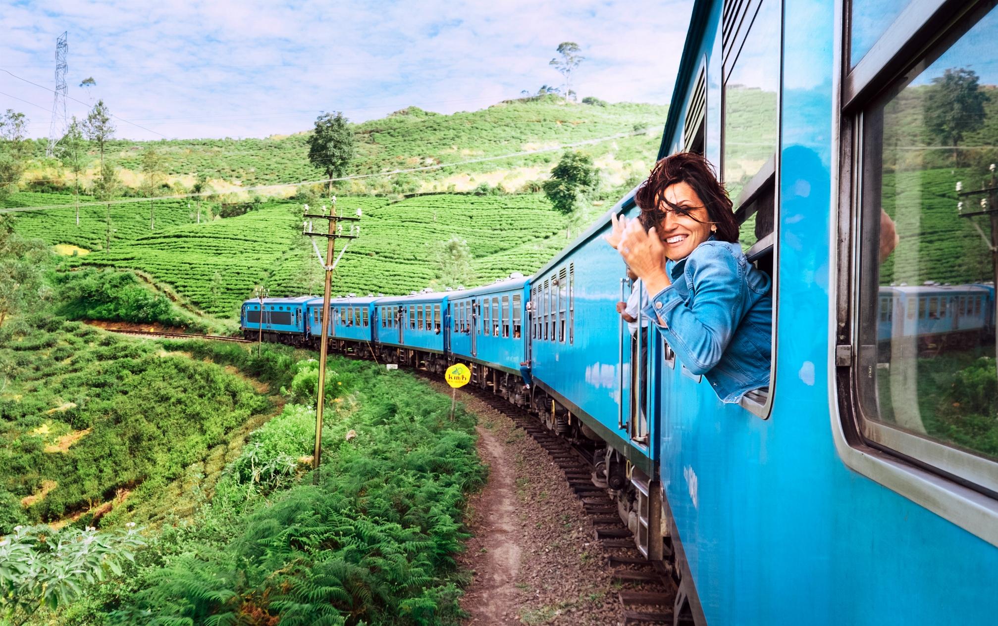 Прибытие на поезде